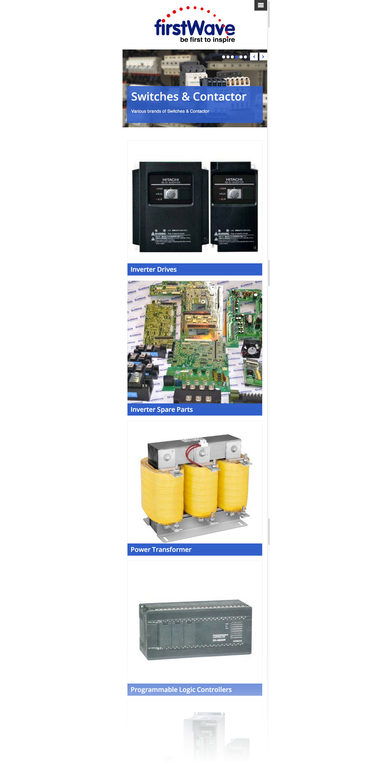 First Wave Engineering Pte. Ltd. website homepage on mobile