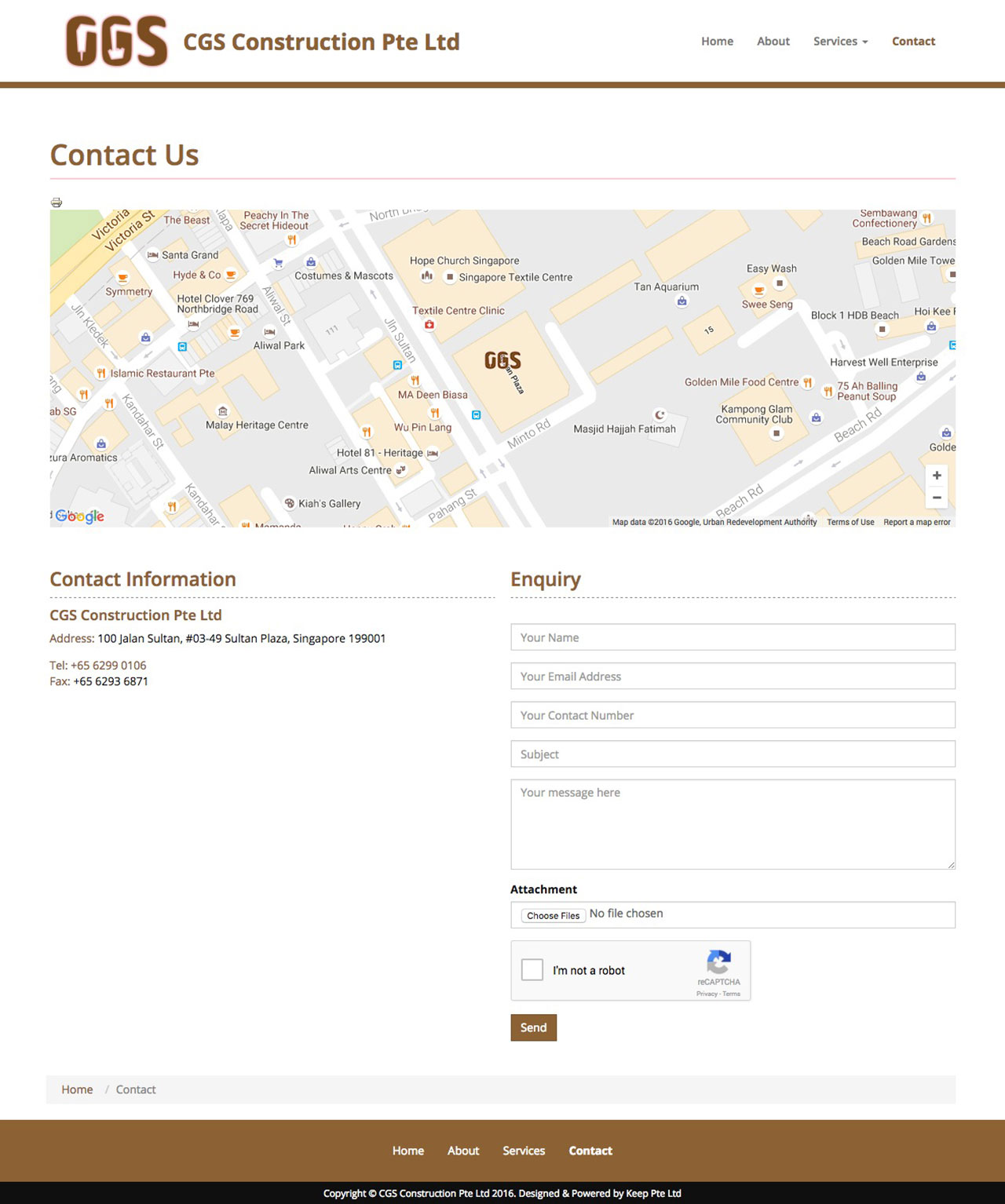 CGS Construction website contact
